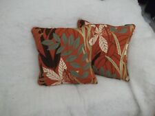 "OLEANA BY HARLEQUIN 1 PAIR OF 18"" CUSHION COVERS - DOUBLE SIDED & PIPED!"