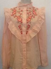 Embroidered Formal Floral Tops & Shirts for Women