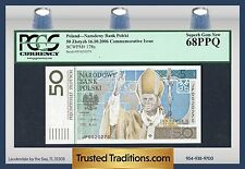 "TT PK 178a 2006 POLAND 50 ZLOTYCH PCGS 68 PPQ SUPERB GEM NEW ""POPE JOHN PAUL II"""