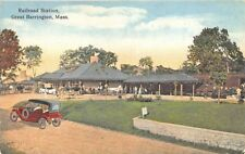 Great Barrington MA Railroad Station Train Depot Postcard