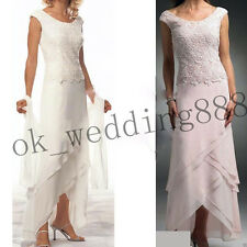 Cap Sleeve Mother of the Bride Lace Dresses Scoop Formal Evening Bridal Gowns