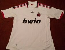 Ac Milan 2009-10 Italy Soccer Football Jersey White Short Sleev Sz L