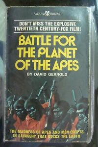 🎈🎈Planet of the Apes (1) BOOK  tv show battle for the vintage David Gerrold