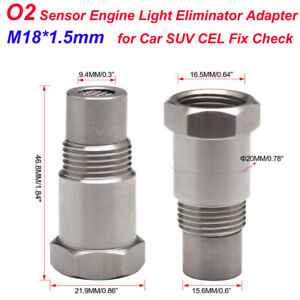 M18*1.5mm Oxygen O2 Sensor Car SUV CEL Fix Check Engine Light Eliminator Adapter