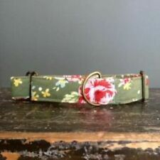 Greyhound House Collar: Vintage green floral (or other breed).