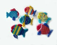 Urban Fish Cupcake Rings Toppers Decorations Favors Beach Fishing Tropical 24