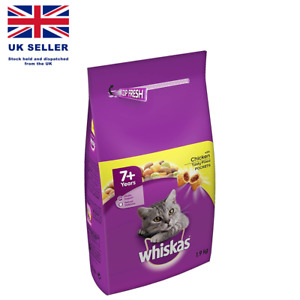 Whiskas 7+ Senior Complete Dry Cat Food Biscuits with Chicken 1.9 KG