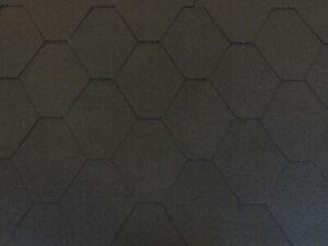 Dachschindeln Hexagonal Dreieck Form 3m?  Schwarz (22 Stk) Schindeln Dachpappe