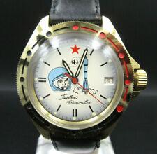 "X433⭐⭐ Vintage "" Poljot Boktok Gagarin "" Datumsanzeige Armbanduhr Handaufzug ⭐⭐"