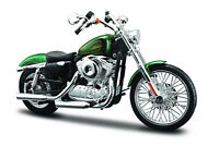 HARLEY-DAVIDSON 2013XL 1200v Seventy-Two VERDE 1:12 MOTO MODELO DE MAISTO
