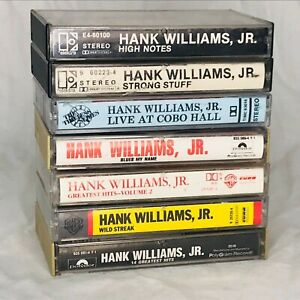 Lot of 7 Vintage Hank Williams Jr. Audio Cassette Tapes Wild Streak Strong Stuff