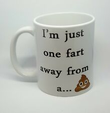 funny rude fart coffee mug innuendo novelty emoji birthday free gift box poop...