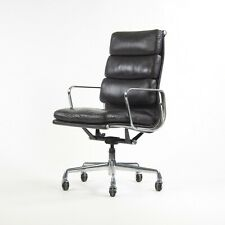 1996 Eggplant Eames Herman Miller High Back Soft Pad Aluminum Group Chair