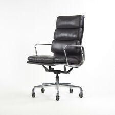 1996 Vintage Black Eames Herman Miller High Back Soft Pad Aluminum Group Chair