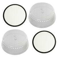 Microwave Round Silicone Non Stick Mat 250mm + Plate Cover Dish Guard 260mm x 2