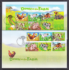 FDCs: 2005 DOWN ON THE FARM SET AND M/S
