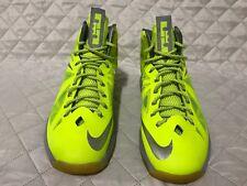Nike Lebron X 10 Volt/Wolf Grey Neon Yellow 541100 700 Sz 12