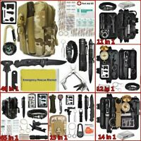 Tactical Survival Kit Outdoor Military Camping Hunting Gear EDC SOS Molle Tools
