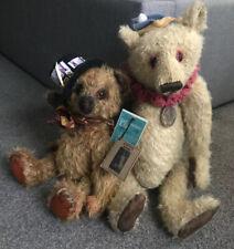 """OOAK Wendy Meagher Whendi's Bears 18"""" Mohair Clown Bear W/Ingrid's Bear Mr. Ritz"""