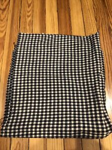 Black And White Buffalo Check 100% Wool Fabric 60 X 28""
