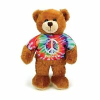 Plushland Bear Plush Stuffed Animals Toys Gifts Tie Dye Peace Birthday Gift 8″