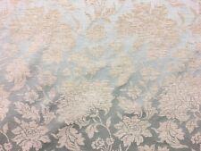 Qualité floral duck egg bleu damas ameublement rideau tissu matériau vente!