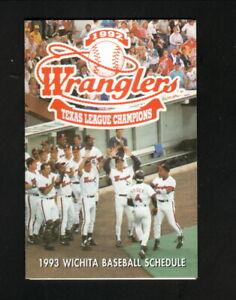 Wichita Wranglers--1993 Pocket Schedule--KRZZ--Padres Affiliate
