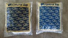 Silkies Control Top Pantyhose 2 Packages NEW Ivory and White Medium VINTAGE