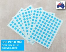 350 Pcs Round Stickers Circle Dots Spots Colour Code Small Deep Sky Blue 8mm