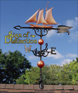 "Whitehall Yacht 46"" Full-Bodied Weathervane COPPER Color Ships FREE!"