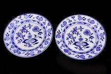 2 antike Porzellan Abendbrotteller VILLEROY & BOCH Dresden Zwiebelmuster Teller