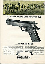 1965 Print Ad of Colt Mark III 38 Pistol 25th National Matches Camp Perry 1928