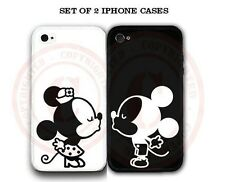 Personalized Black White Mouse Love Couple Kissing COVER 2 Cases For iPhone 6S 6