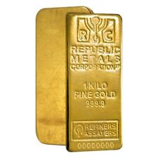 1 kilo Republic Metals (RMC) Gold Bar .9999 Fine (w/Assay)