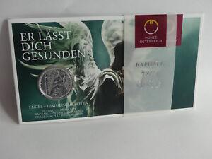 ÖSTERREICH 2018 10 EURO SILBER MÜNZE COIN HGH - RAPHAEL - DER HEILUNGSENGEL -