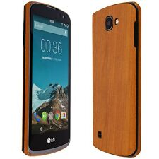 Skinomi Light Wood Skin+Clear Screen For LG Optimus Zone 3/LG Spree/LG K4 LTE