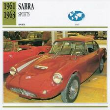 1961-1963 SABRA  Sports Classic Car Photo/Info Maxi Card
