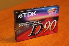 TDK D90 High Output Audio Blank Cassette Tape - Brand New Sealed