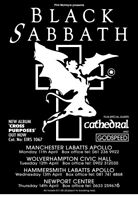 BLACK SABBATH - UK TOUR - WITH CATHEDRAL - TOUR POSTER