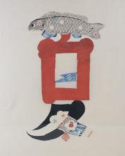 Keisuke Serizawa (Japanese 1895 - 1984) Stencil Print, Untitled - seal signed