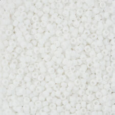 Toho Round Size 8/0 (3mm) Seed Beads Matte Opaque Rainbow White 10g (L42/7)