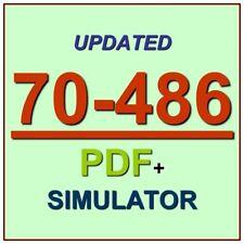 Latest 70-486 Verified Practice Test 486 Exam QA PDF+Simulator