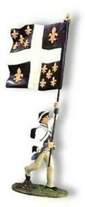 AR019 - French Regiment Flagbearer - AWI - King and Country