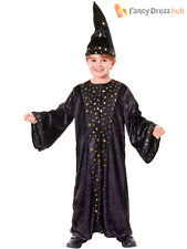 Childs Deluxe Wizard Costume Boys Girls Magician Fancy Dress Book Week Outfit