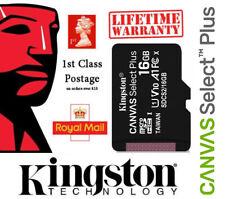Kingston Canvas Select Plus 16GB Micro SD SDHC Memory Card Dashcam Phone Camera
