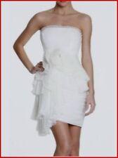 BCBG MAXAZRIA RUNWAY OFF WHITE RUFFLE TULLE DRESS size 10 NWT $598-RackA/100