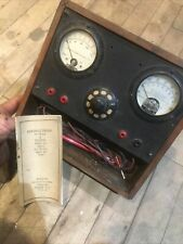 Vintage Antique Weston Radio Amp Voltmeter Test Equipment In Wood Case