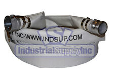 "2"" x 100' Ultimate Single Jacket Lay-Flat Mill Hose Coupled w/Aluminum Camlocks"