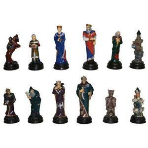 Fantasy Schachfiguren Gut gegen Böse zinn