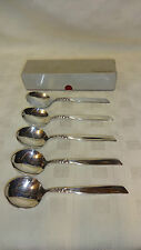 Vintage/Retro Boxed Set Of 5 Oneida Community Soup Spoons - South Seas Pattern